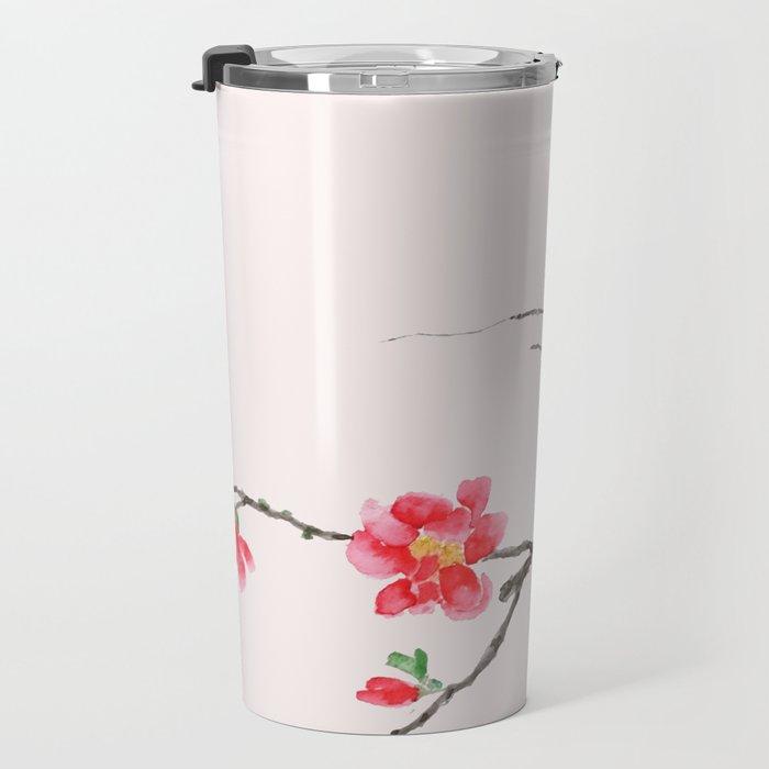red Japan begonia Travel Mug