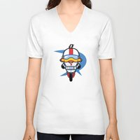 gizmo V-neck T-shirts featuring Hello Gizmo by Hoborobo
