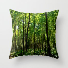 Green breeze Throw Pillow