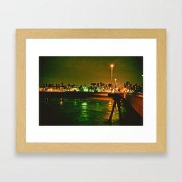 Venice Beach Night Framed Art Print