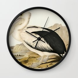 Pied oyster-catcher from Birds of America (1827) by John James Audubon etched by William Home Lizars Wall Clock