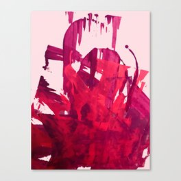 Embers: a vibrant abstract piece in pinks Canvas Print