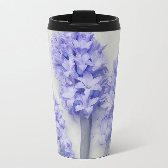 Bright Lilac Hyacinths Metal Travel Mug