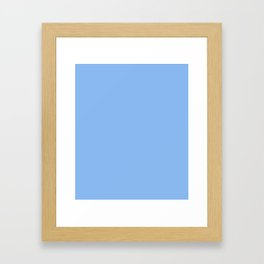 Jordy Blue - solid color Framed Art Print
