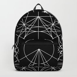 Metatron's Cube Black & White Backpack