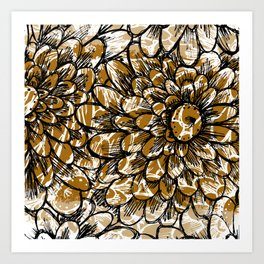 Moroccan Sunflower Art Print