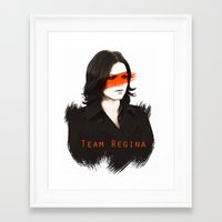 regina mills Framed Art Prints featuring Team Regina by Geek World