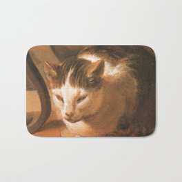 Cat in the art – Le brun – The sleep of the baby Jesus. Bath Mat