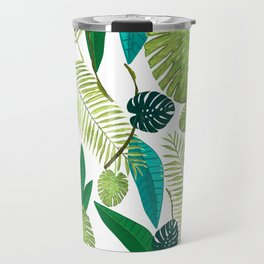 Tropical Green Leaves Travel Mug