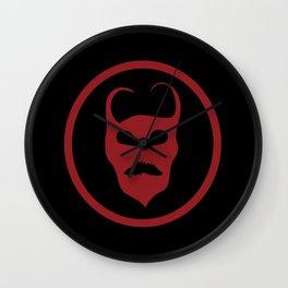 Devil Symbol Logo Wall Clock
