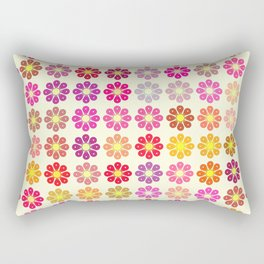 Multicolored floral pattern Rectangular Pillow
