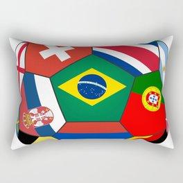 Football ball with various flag - 2018 Rectangular Pillow
