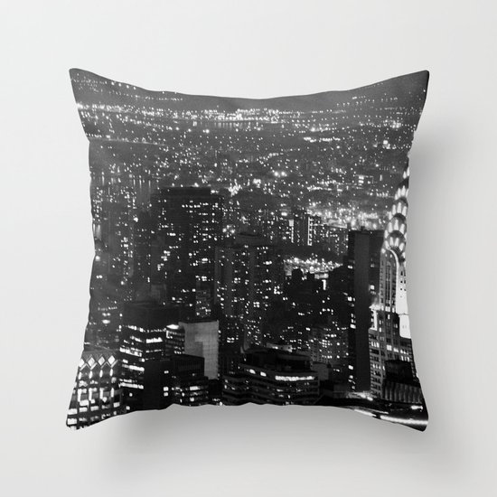 A Classic Dark Throw Pillow