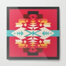 American Native Pattern No. 289 Metal Print