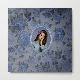 Blue rose Lana Metal Print