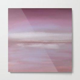 New Day 10 Pink Plum Purple Lavender Grape Gray - Abstract Art Series Metal Print