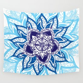 Atlantean Voyage Blue Wall Tapestry