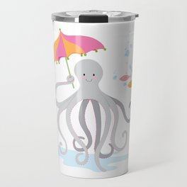 Sweet octopus with a Parasol Travel Mug