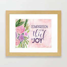 Comparison in the Thief of Joy Framed Art Print