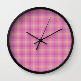 Tropical Tartan Wall Clock