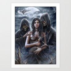 Spirit of the night Art Print