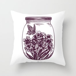 Oleander Potion Throw Pillow