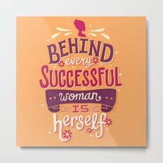 Successful woman Metal Print