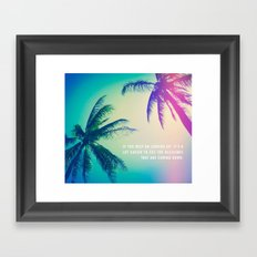 Keep on Looking up. Framed Art Print
