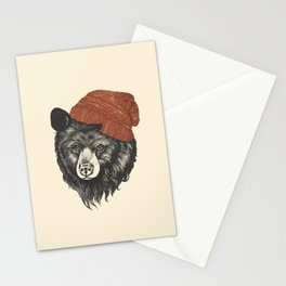 zissou the bear Stationery Cards