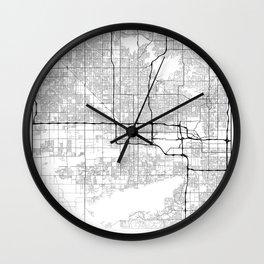 Minimal City Maps - Map Of Phoenix, Arizona, United States Wall Clock