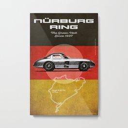 Nürburgring Vintage 300SLR Uhlenhaut Coupe Metal Print