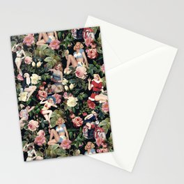 Floral and Pin Up Girls Pattern Stationery Cards
