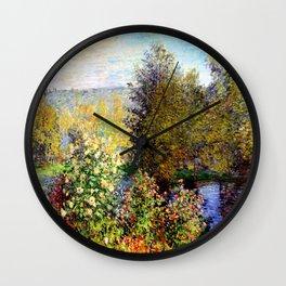 Claude Monet : A Corner of the Garden at Montgeron Wall Clock