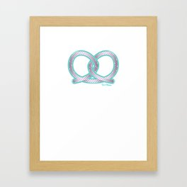 PRETZEL bone Framed Art Print