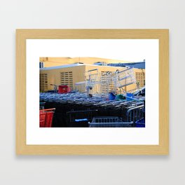 Grocery carts Framed Art Print