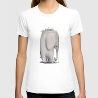 baby elephant T-shirts featuring Baby Elephant by Corner HL