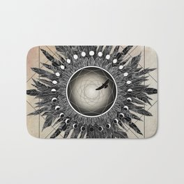 Crow Twilight Dreamcatcher Bath Mat