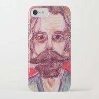 grateful dead iPhone & iPod Cases featuring Bob Weir Watercolor Portrait Grateful Dead by Acorn
