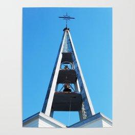 Bell tower church Belfry  Poster