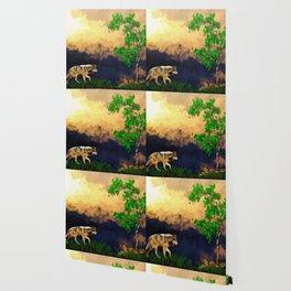 Wolf Landscape Watercolor (Color) Wallpaper