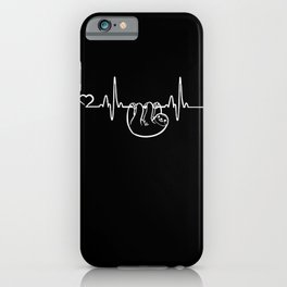 Sloth heartbeat lazy humor Cute Animal gift iPhone Case