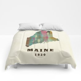 Maine state map modern Comforters