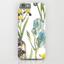 Irises 1   Iris Flowers   Vintage Floral Pattern   Flower Patterns   iPhone Case