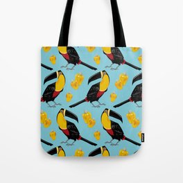 Brazilian Birds & Fruits - Channel-billed Toucan + cashews Tote Bag