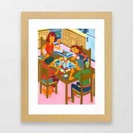 Family Night Framed Art Print