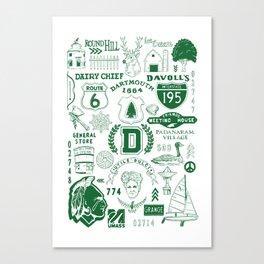 Dartmouth Massachusetts Print Canvas Print