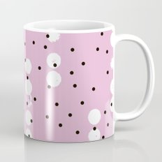 Connecting the neon dots abstract pink pop pattern Mug