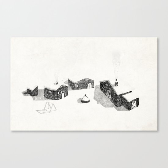 Le Village Canvas Print