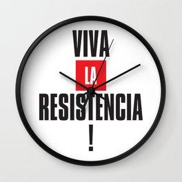 Viva la resistencia Wall Clock