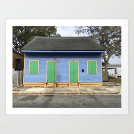 Purple House in the Bywater, New Orleans Art Print